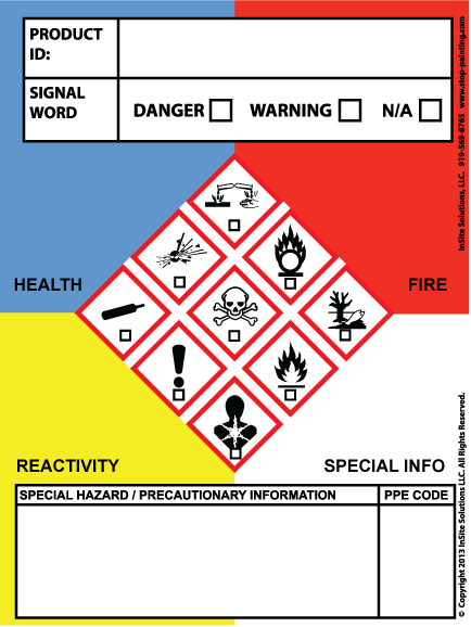 Osha Secondary Container Label Template : secondary, container, label, template, Secondary, Container, Label