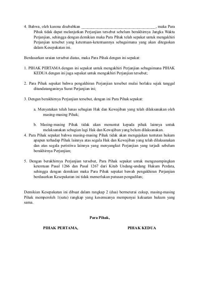 Surat Pembatalan Kerjasama : surat, pembatalan, kerjasama, Contoh, Surat, Pembatalan, Perjanjian, Kerjasama, Terbaru