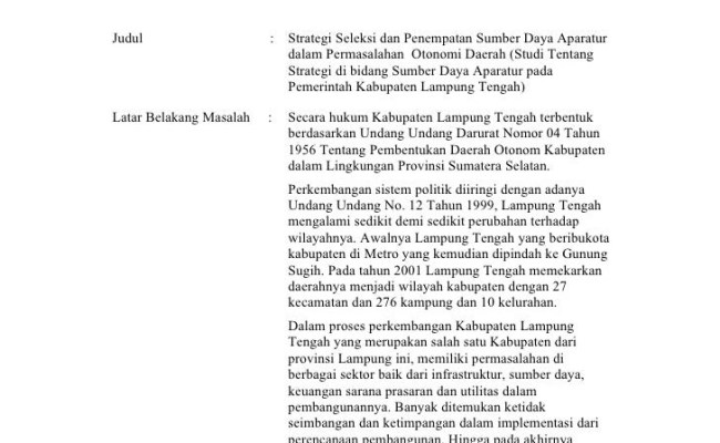 Contoh Judul Skripsi Administrasi Negara Terbaru Surat Hh Cute766