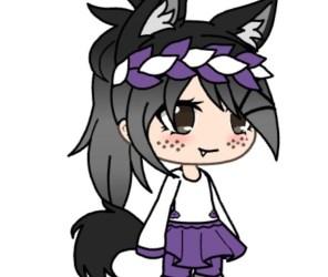 Cute Kawaii Wolf Girl 4