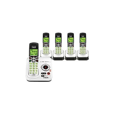 VTech Expandable Five Handset Cordless Phone System with