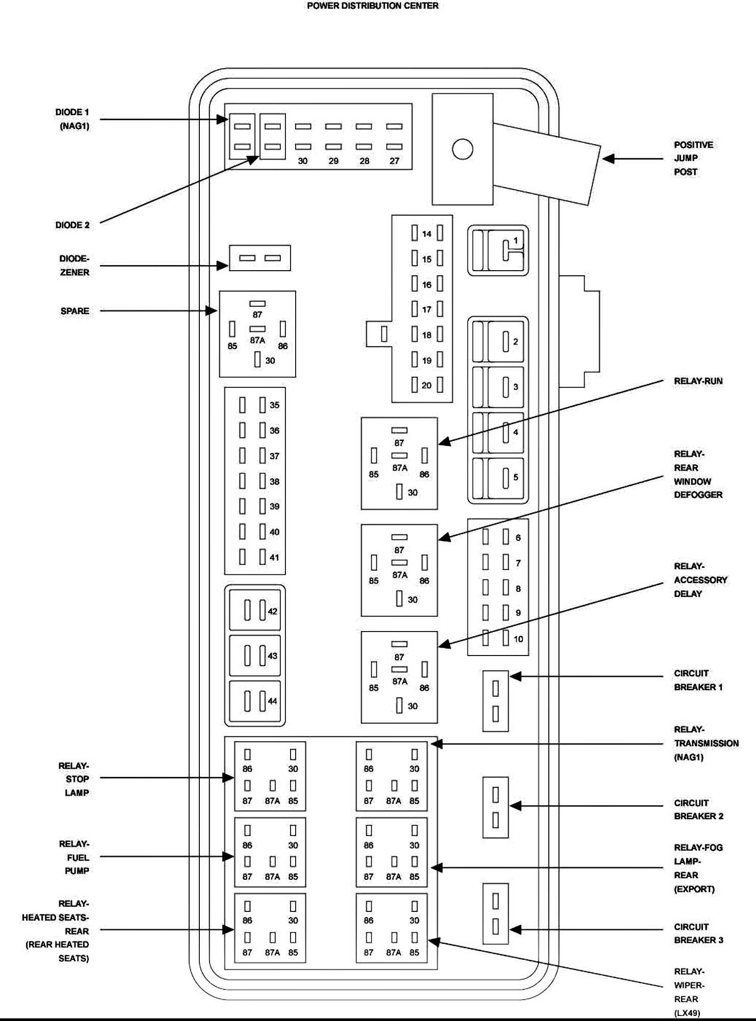 80 [PDF] FUSE DIAGRAM FOR 06 DODGE CHARGER PRINTABLE