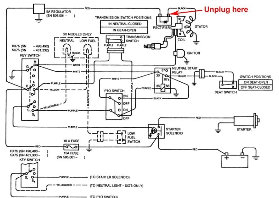 X495 Pto Wiring Diagram : G110 John Deere Wiring Diagram
