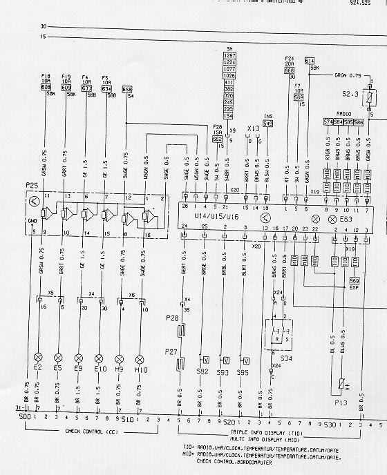 Schaltplan Astra H