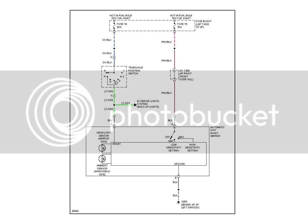 medium resolution of auto dimming mirror wiring kit