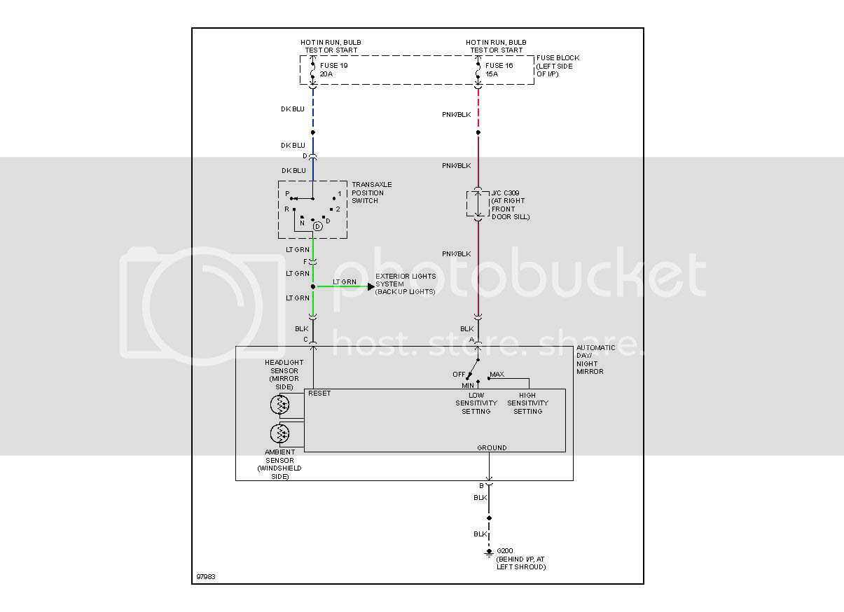 hight resolution of auto dimming mirror wiring kit