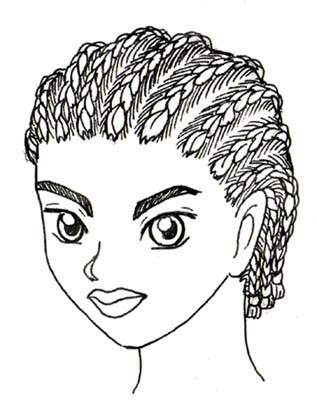 How To Draw Cornrows : cornrows, French, Braids, Drawing