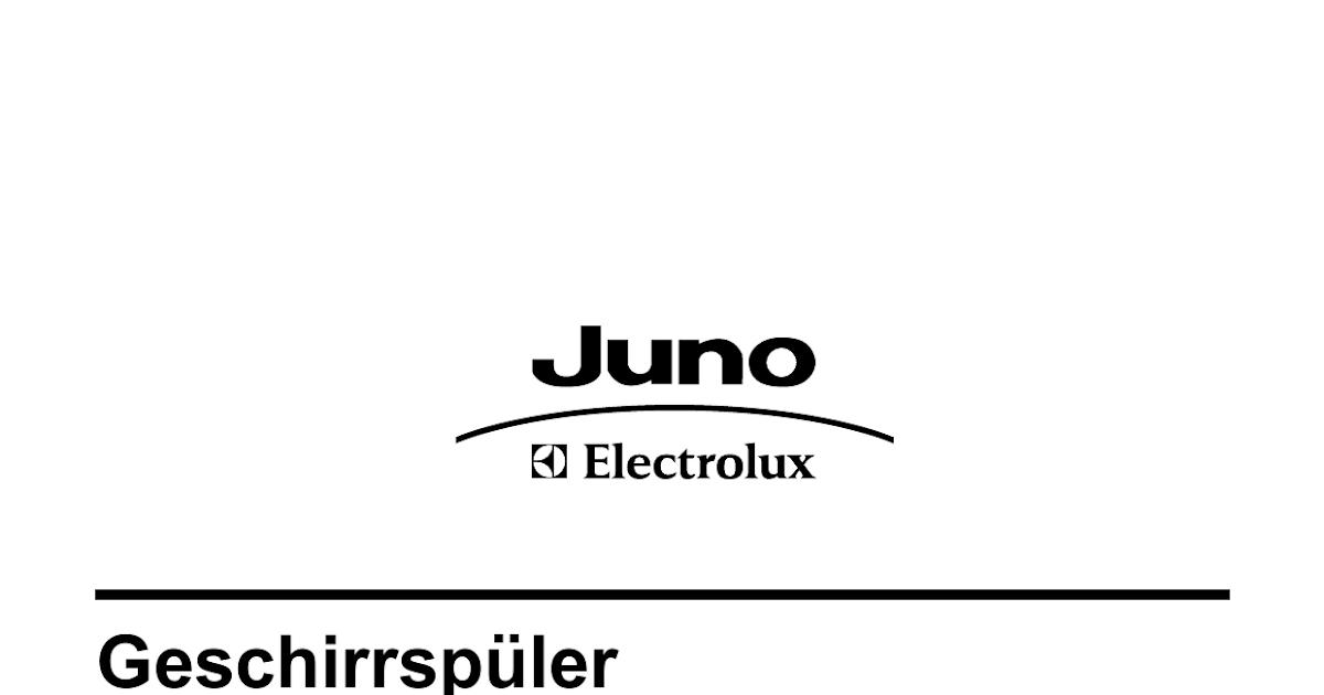 Electrolux Juno Geschirrspüler Bedienungsanleitung
