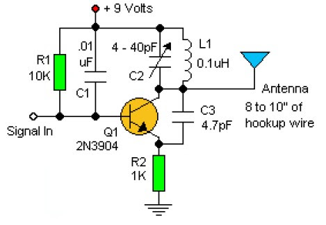 2n 12v Wiring Diagram Rf 0scillator Circuit Circuit Diagram Images
