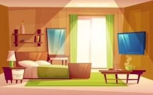 Anime Living Room Background Morning 1
