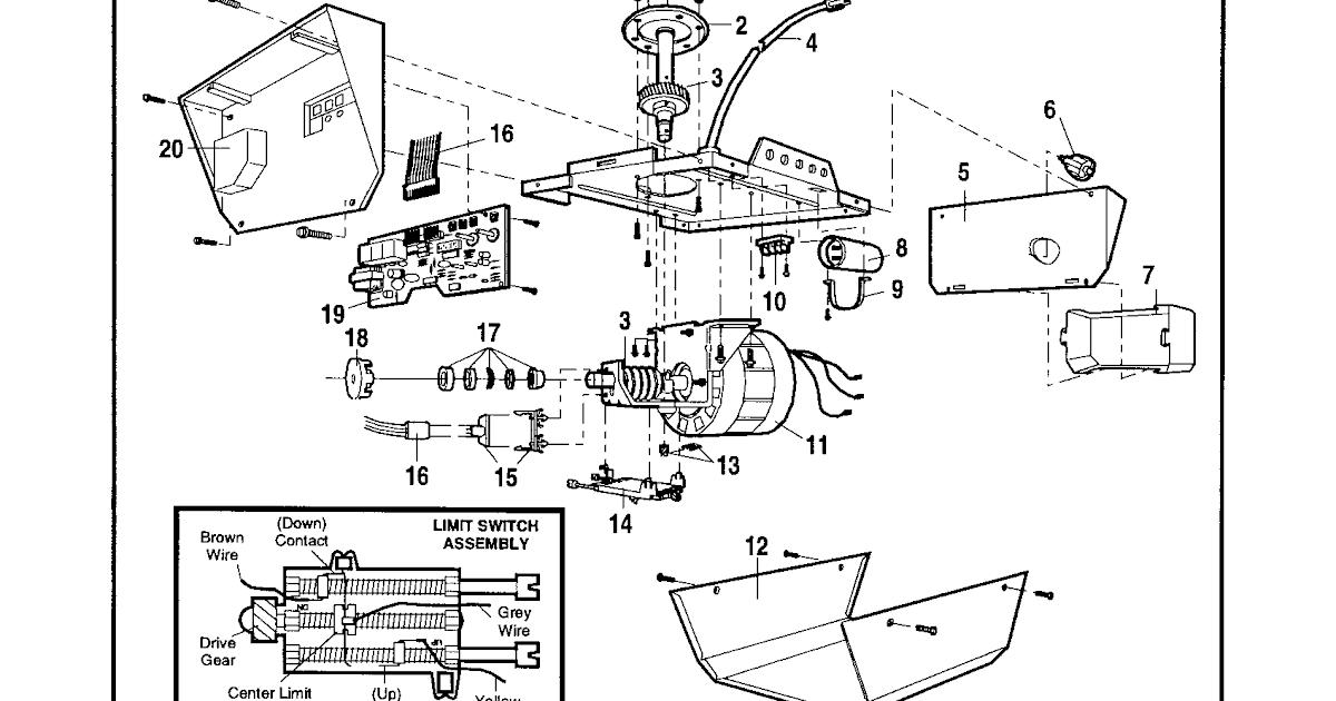 [DIAGRAM] Craftsman Garage Door Opener Parts Diagram