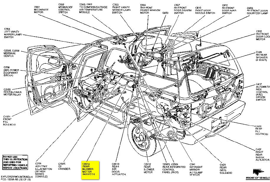 Encontrá manual: 2003 ford explorer body parts diagram