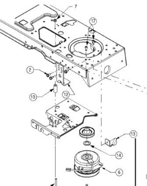BELT DIAGRAM FOR CUB CADET LT1045