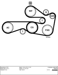 2008 Bmw 535i Serpentine Belt Diagram : serpentine, diagram, Optimum, Serpentine, Replacement
