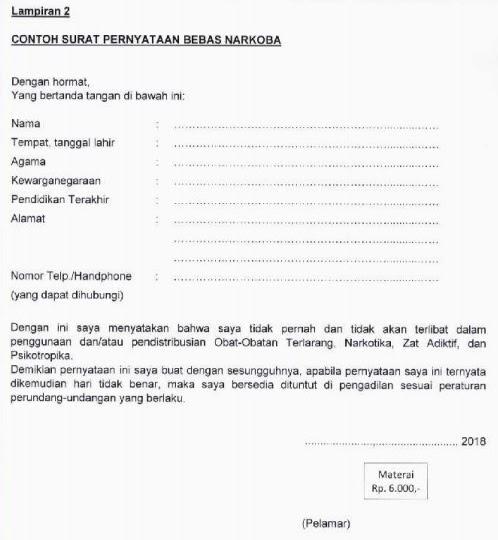 Format surat lamaran cpns kemenkumham 2021, cek di sini! 12+ Contoh Surat Pernyataan Lamaran Kerja Cpns - Kumpulan ...