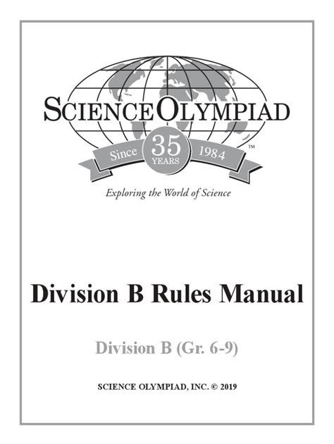 Read Science-Olympiad-Division-B-Rules-Manual Paperback