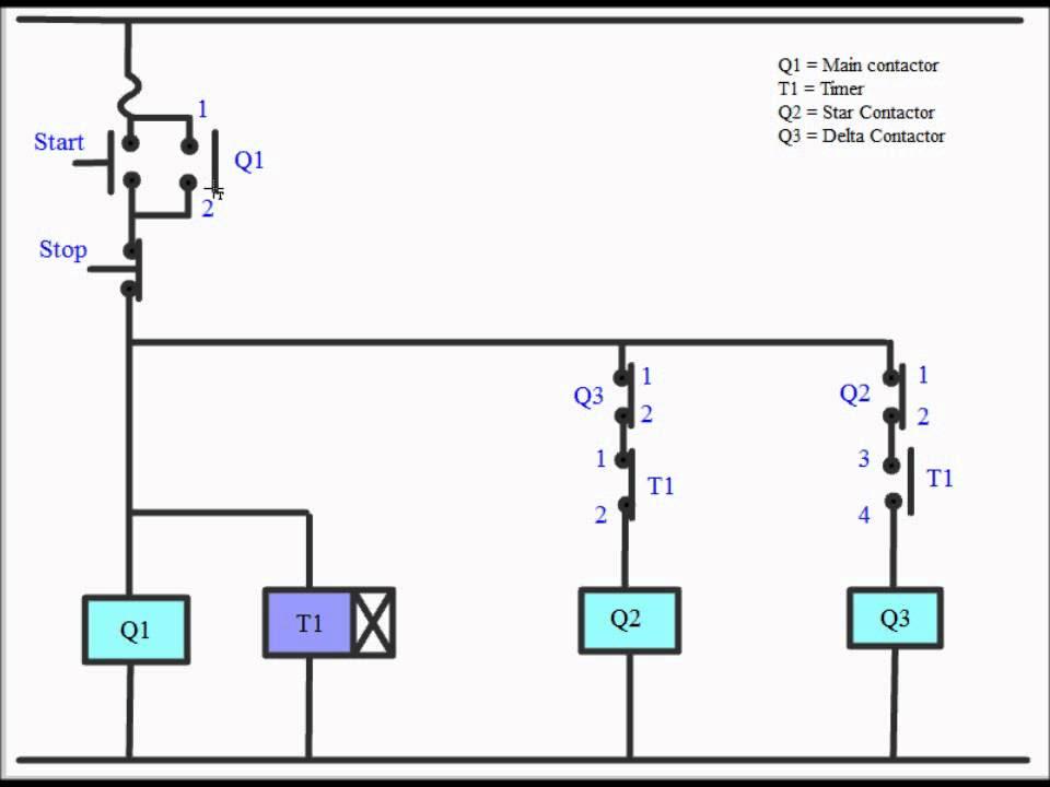[View 41+] Star Delta Starter Wiring Diagram With Timer