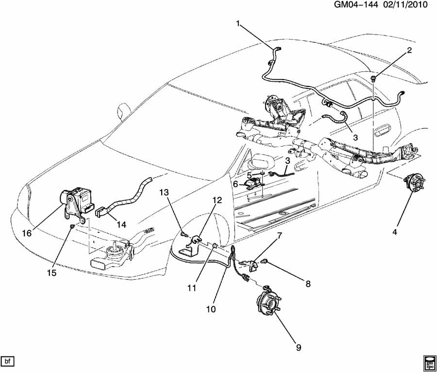Wiring Diagram: 30 2006 Buick Rendezvous Rear Suspension