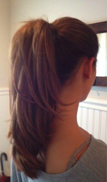 4 Ponytail Haircut Layers : ponytail, haircut, layers, Style, Haircut, Ponytail, Layers