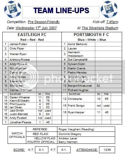 Eastleigh 0-1 Portsmouth