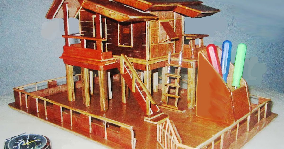 Gambar Gambar Rumah Bambu  Feed News Indonesia