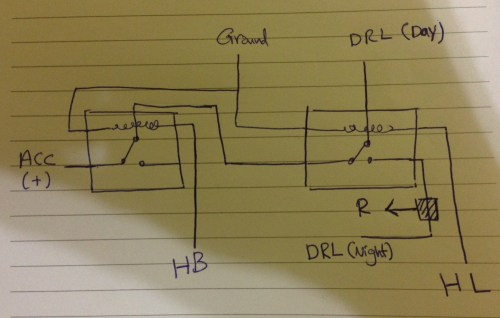 small resolution of two light wiring diagram relay on
