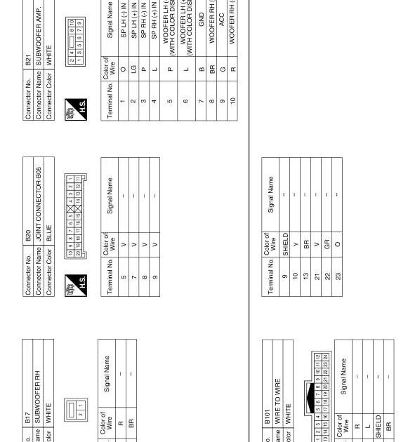 2014 Nissan Maxima Radio Wiring Diagram / 2014 Nissan