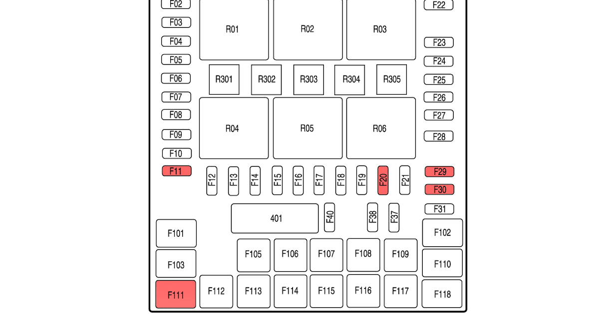 2005 Ford F150 Fuse Box Diagram / 2005 F250 Fuse Panel