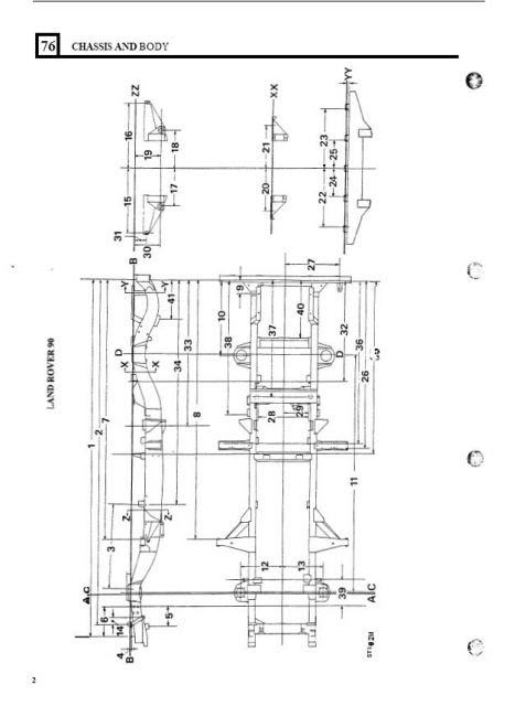 Land Rover Defender 90 Chassis Dimensions