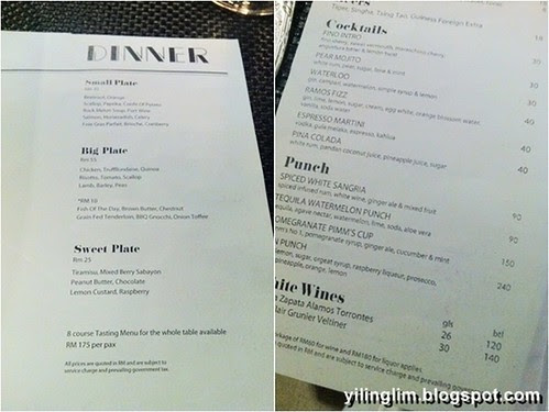 F Kitchen Bangsar Menu