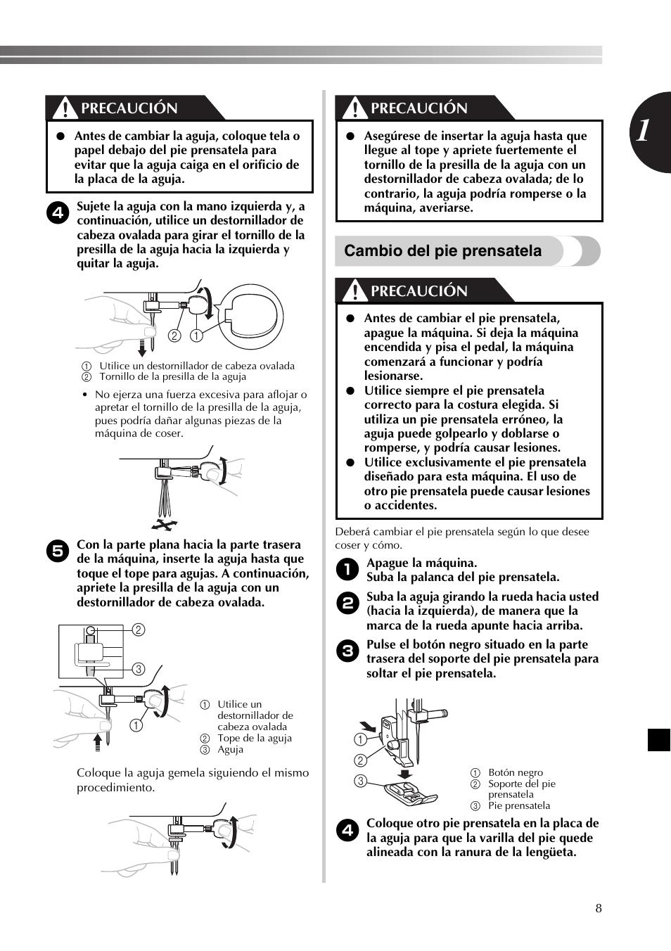 Manual De Maquina De Coser Brother Bm2800 En Español