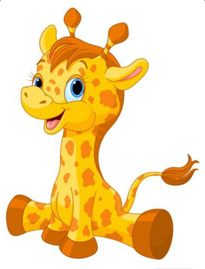 Baby Animals Cartoon Images : animals, cartoon, images, Giraffe, Animals, Picture, Cartoon