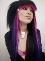 emo girls with rainbow hair
