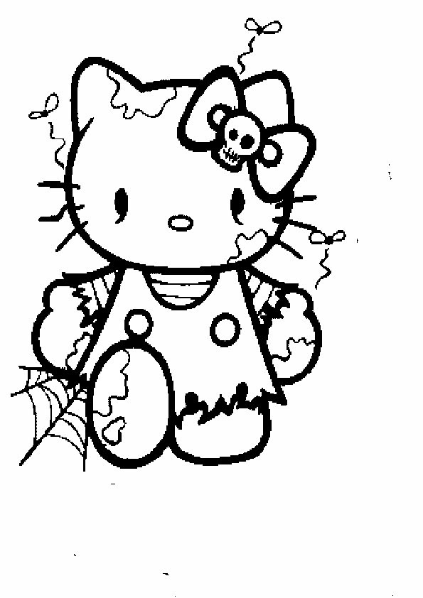 Hello Kitty Meerjungfrau Ausmalbild