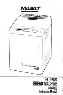 Welbilt Bread Machine Manual