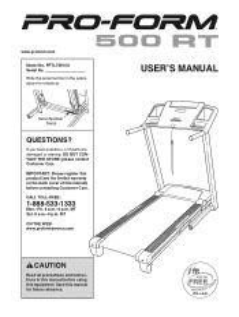 Free PDF proform-500-treadmill-manual Paperback