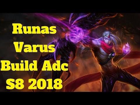 league of legends español: runas varus build adc s8 2018
