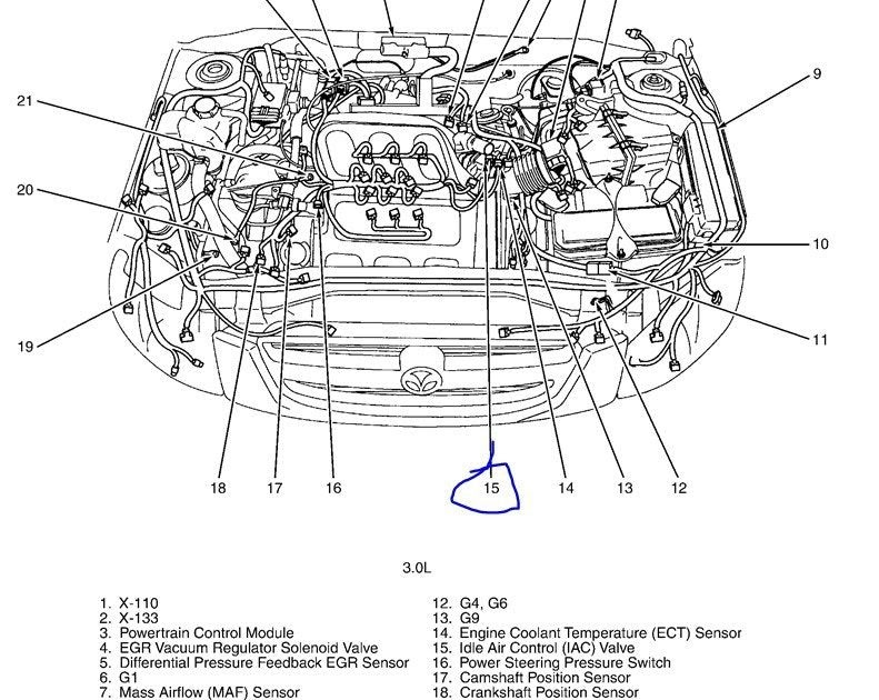 Mazda Tribute 2003 Engine Diagram
