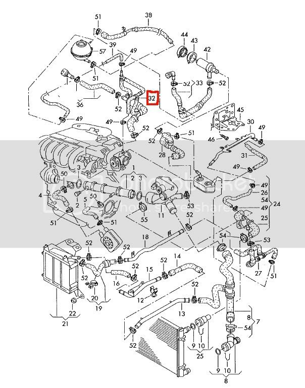 Wiring Diagram: 7 2001 Vw Jetta Coolant System Diagram
