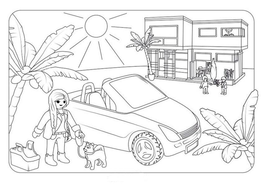 Playmobil Ausmalbilder Haus