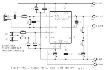 60W Class AB Audio Amplifier with TDA7294 « Audio Circuit