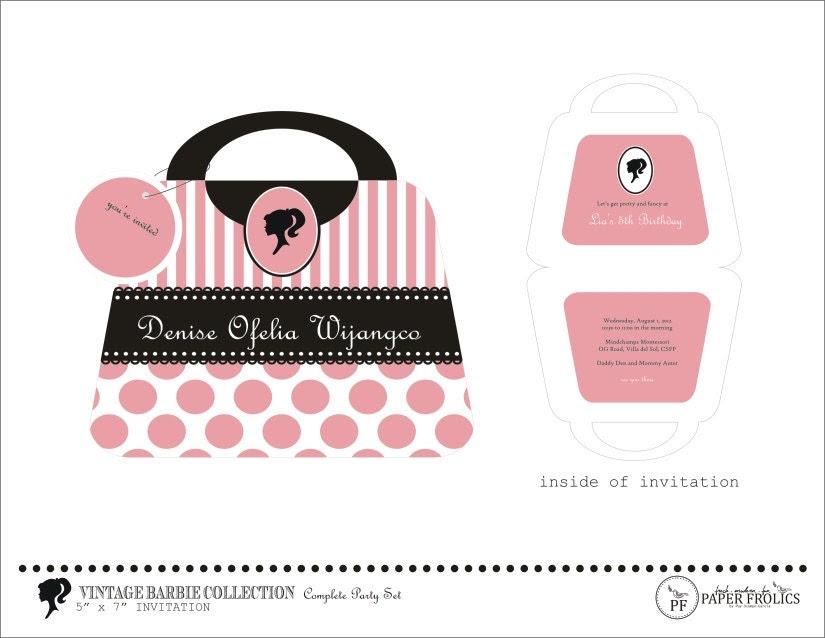 Barbie Silhouette Free Printable Kits Oh My Fiesta In