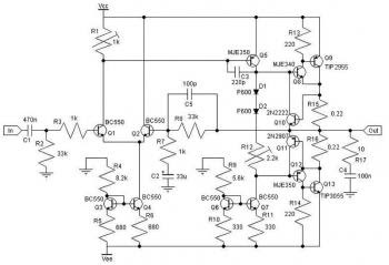30W Class AB Power Amplifier Circuit « Audio Circuit
