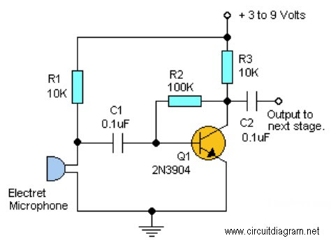 Preamplifier Circuit With Microphone Circuit Diagram Net