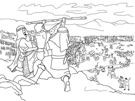 Reading Pdf moses battles the amalekites coloring pages