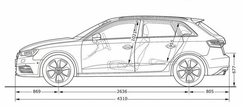 Audi A3 Sportback Dimensions 2014