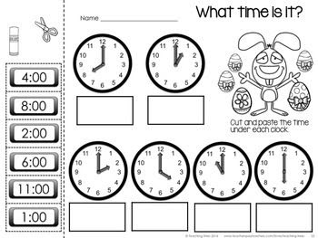 time worksheet: NEW 179 TIME WORKSHEET CUT AND PASTE