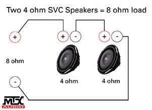 Single 4 Ohm Dual Voice Coil Wiring Diagram