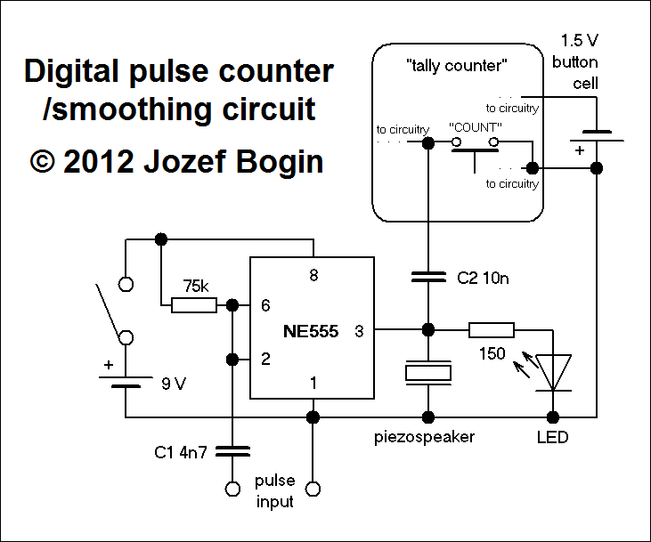 51 UP DOWN COUNTER CIRCUIT SCHEMATIC, SCHEMATIC COUNTER