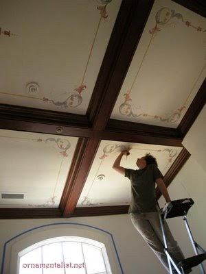 The Ornamentalist Marouflage Ceiling in progress